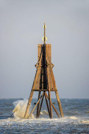 high tide: High tide flood in Cuxhaven