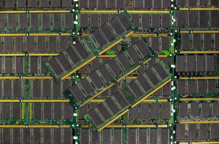 modules: DDR RAM, Computer memory chips modules background