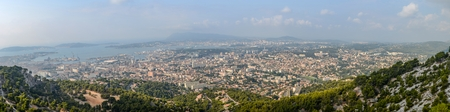 toulon: City Toulon in France from Mont Faron panorama view