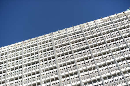 tunis: modern white office building at closeup tunis downtown Stock Photo