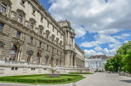 Beautiful view of famous Naturhistorisches Museum (Natural History Museum) Vienna, Austria, Europe
