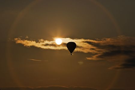 flying balloon in the sky photo