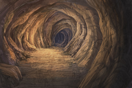 peinture rupestre: peinture num�rique grotte