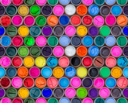 avocation: Colorful water color in bottles four seamless patterns
