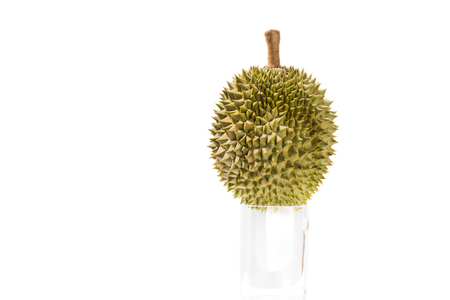 Ripe of Durian fruit isolated on white background