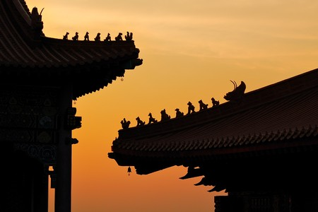 annals: silhouette chinese temple