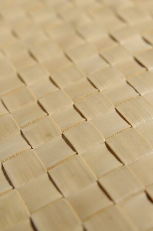 close up wicker woven texture made from vegetable fibers photo