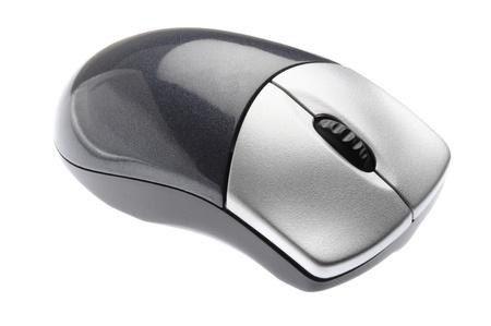 gray wireless mouse isolate on white Stock Photo - 8950927