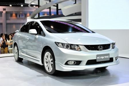 Nonthaburi, Thaïlande - 07 avril, la Honda Civic dans la 33e Bangkok International Motor Show sur Avril 07 2012 en Nonthaburi, Thaïlande