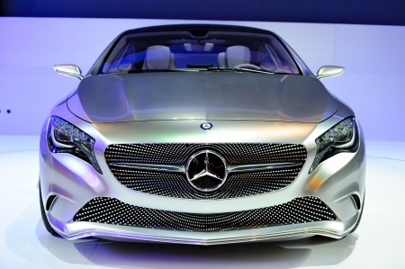 NONTHABURI, THAILAND - APRIL 07  The Mercedes-Benz Concept A-class  in the 33rd Bangkok International Motor Show on April 07, 2012 in Nonthaburi, Thailand