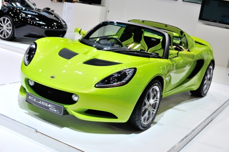 NONTHABURI, THAILAND - APRIL 07  The Lotus ELISE SC in the 33rd Bangkok International Motor Show on April 07, 2012 in Nonthaburi, Thailand
