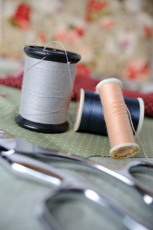 closeup sewing accessories  Stock Photo - 14585272