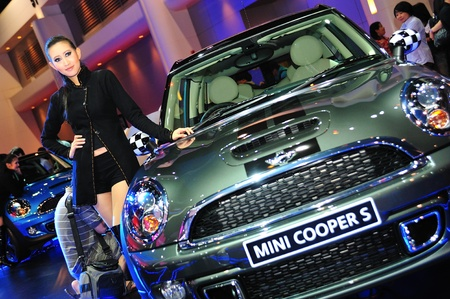 NONTHABURI, THAILAND - MARCH 26: The new Mini cooper S in the 32nd Bangkok International Motor Show on March 26, 2011 in Nonthaburi, Thailand. Stock Photo - 14762525