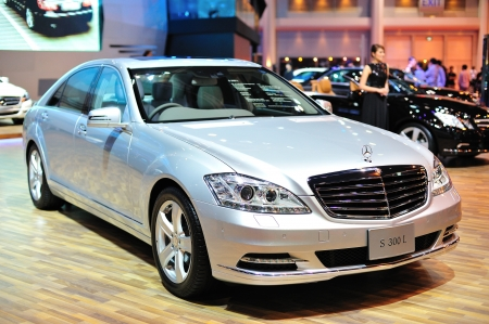 NONTHABURI, THAILAND - MARCH 26: The Mercedes benz S300L in the 32nd Bangkok International Motor Show on March 26, 2011 in Nonthaburi, Thailand.