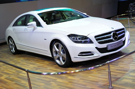 NONTHABURI, THAILAND - MARCH 26: The new CLS-Class Mercedes benz in the 32nd Bangkok International Motor Show on March 26, 2011 in Nonthaburi, Thailand.