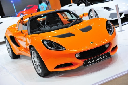 NONTHABURI, THAILAND - MAY 21: The LOTUS ELISE in Supercar & Import car Show on May 21, 2011 in Nonthaburi, Thailand.