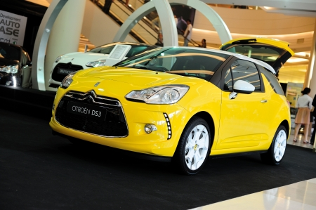 BANGKOK, THAILAND - SEPTEMBER 14  The Citroen DS3 RACING at Siam Paragon on September 14, 2011 in Bangkok, Thailand