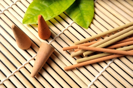 aromatic incense and other decorative Stock Photo