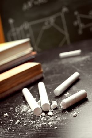 White chalks on the table
