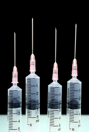 isolate syringes Stock Photo - 15674593