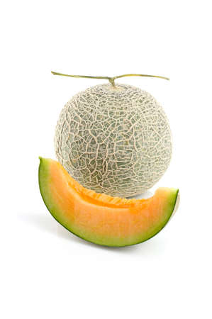 Isolated fresh melon on white background photo