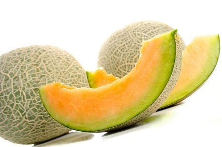 Isolated fresh melon on white background Stock Photo - 16257263