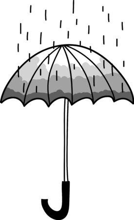 rain drop: Vector umbrella and rain drop  Illustration