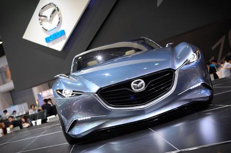 NONTHABURI, THAILAND - DECEMBER 03: The Mazda Shinari at Mazda booth in the 29th Thailand international Motor Expo on December 03, 2012 in Nonthaburi, Thailand. Stock Photo - 16943830
