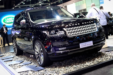 NONTHABURI, THAILAND - DECEMBER 03: The LAND ROVER RANGE ROVER at LAND ROVER booth in the 29th Thailand international Motor Expo on December 03, 2012 in Nonthaburi, Thailand. Stock Photo - 17025083