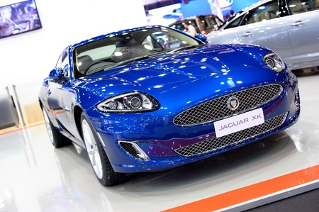 NONTHABURI, THAILAND - DECEMBER 03: The Jaguar XK at Jaguar XK booth in the 29th Thailand international Motor Expo on December 03, 2012 in Nonthaburi, Thailand. Stock Photo - 17025081