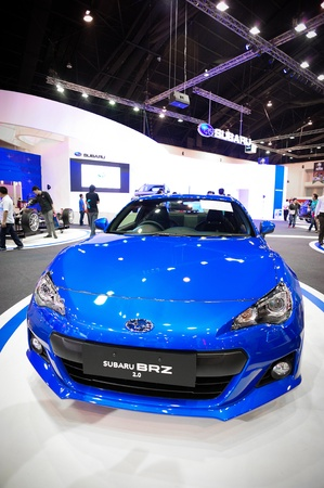 NONTHABURI, THAILAND - DECEMBER 03: The Subaru BRZ at Subaru booth in the 29th Thailand international Motor Expo on December 03, 2012 in Nonthaburi, Thailand. Stock Photo - 17025070