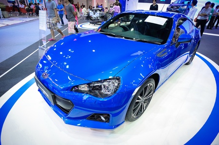NONTHABURI, THAILAND - DECEMBER 03: The Subaru BRZ at Subaru booth in the 29th Thailand international Motor Expo on December 03, 2012 in Nonthaburi, Thailand. Stock Photo - 17025076