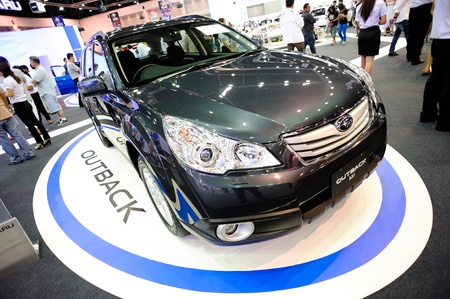 NONTHABURI, THAILAND - DECEMBER 03: The Subaru Outback at Subaru booth in the 29th Thailand international Motor Expo on December 03, 2012 in Nonthaburi, Thailand. Stock Photo - 17025075