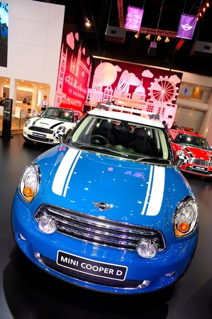 NONTHABURI, THAILAND - DECEMBER 03: The MINI COOPER D at MINI booth in the 29th Thailand international Motor Expo on December 03, 2012 in Nonthaburi, Thailand. Stock Photo - 17025079