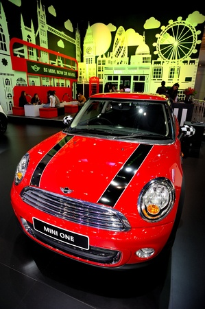 NONTHABURI, THAILAND - DECEMBER 03: The MINI ONE at MINI booth in the 29th Thailand international Motor Expo on December 03, 2012 in Nonthaburi, Thailand. Stock Photo - 17025077