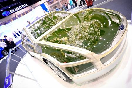 NONTHABURI, THAILAND - DECEMBER 03: The Subaru car model at Subaru booth in the 29th Thailand international Motor Expo on December 03, 2012 in Nonthaburi, Thailand. Stock Photo - 18559859