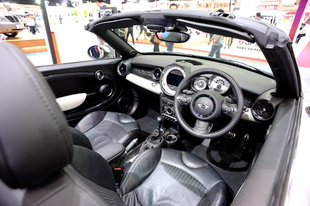 NONTHABURI, THAILAND - DECEMBER 03: Interior of MINI Car at MINI booth in the 29th Thailand international Motor Expo on December 03, 2012 in Nonthaburi, Thailand. Stock Photo - 18559858