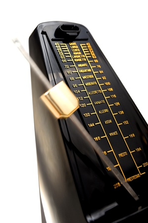 closeup musical metronome, musical time keeping photo