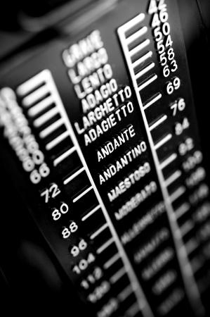 closeup musical metronome, musical time keeping Stock Photo - 19744680
