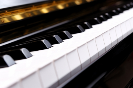 Closeup piano keys photo