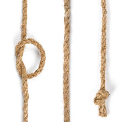 closeup jute rope isolate on white background Reklamní fotografie