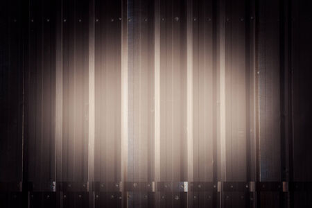 abstract corrugated metal use as background photo
