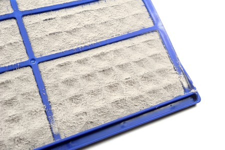very dirty: closeup very dirty air conditioner filter