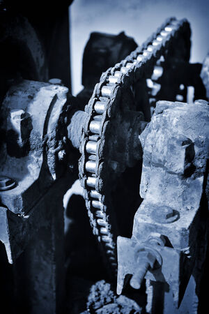 dirty large machine timing chain photo