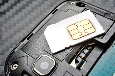 SIM card on the smart phone photo