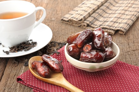 closeup sweet dried dates fruit Stock Photo