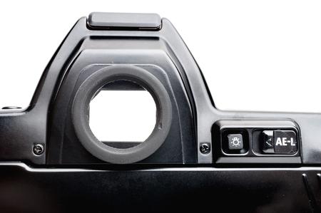 viewfinder vintage: closeup viewfinder of vintage film camera