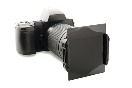 polarization: closeup ND filters attached on lens, Photography equipment