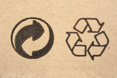 reciclar: signo portarretrato en caja de cart�n