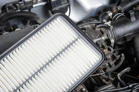 new filter: new air filter for car, auto spare part